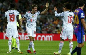 Detalj sa utakmice Barselona - Bajern (Foto: Tanjug/AP Photo/Joan Monfort)